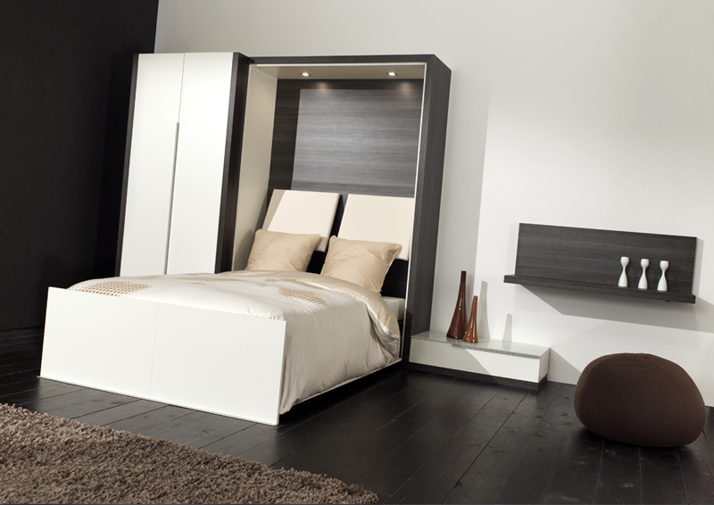 mobilier table lit gain de place 2 personnes. Black Bedroom Furniture Sets. Home Design Ideas