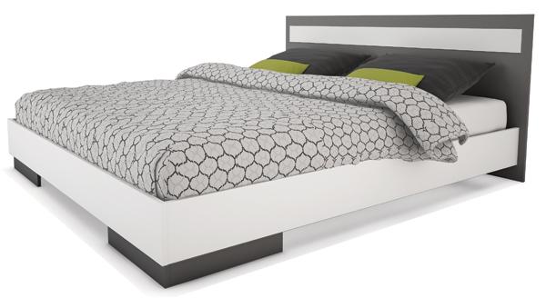 lit 2 personnes gris. Black Bedroom Furniture Sets. Home Design Ideas