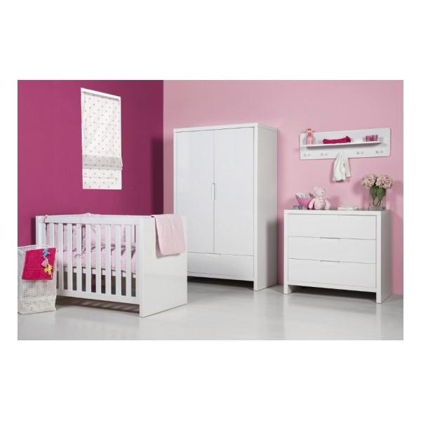 lit bebe laque blanc. Black Bedroom Furniture Sets. Home Design Ideas