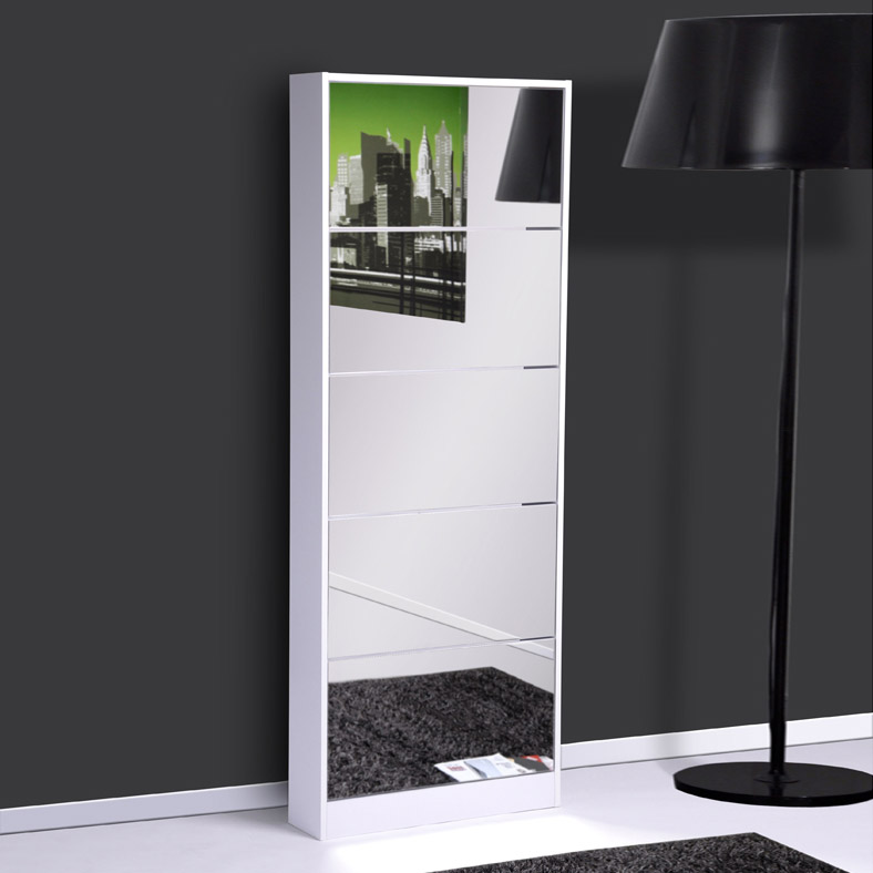 meuble chaussures miroir en ligne. Black Bedroom Furniture Sets. Home Design Ideas