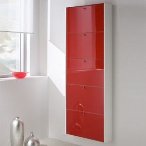 meuble chaussures rouge. Black Bedroom Furniture Sets. Home Design Ideas