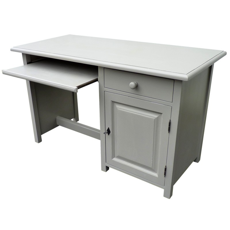 meuble de bureau gris