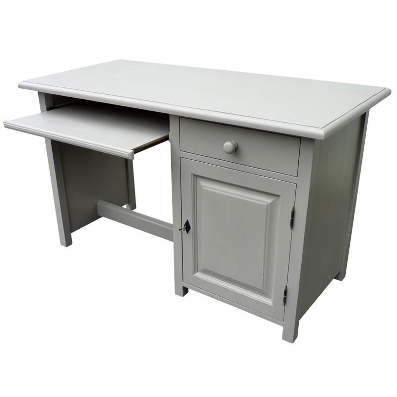 Bureau gris universal gris bureau 3 tiroirs bureau syra for Acheter meuble bureau