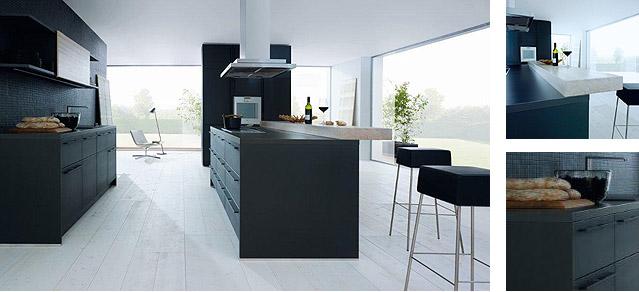 Meuble de cuisine noir - Meuble cuisine en ligne ...