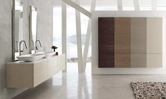 exemple meuble de salle de bain contemporain haut de gamme