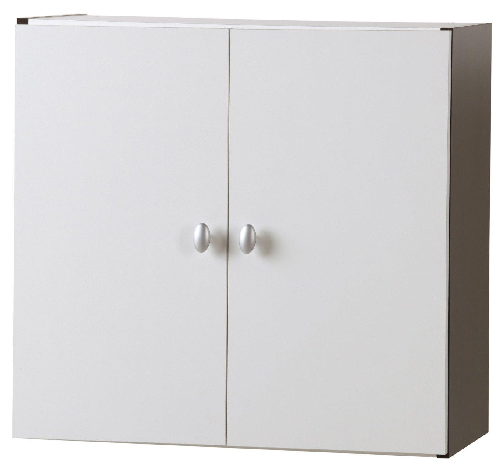 Photo meuble haut de salle de bain 2 portes a suspendre for Meuble haut salle de bain une porte