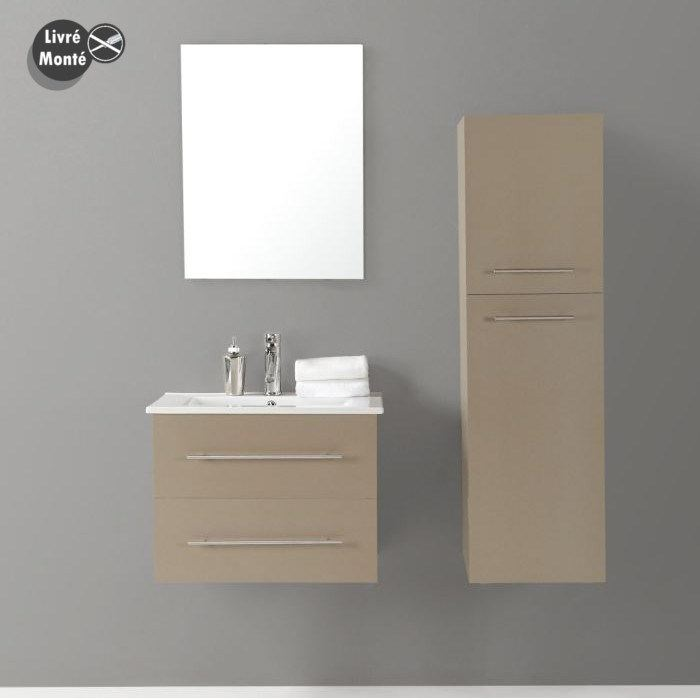 Meuble haut salle de bain taupe for Salle de bain en ligne