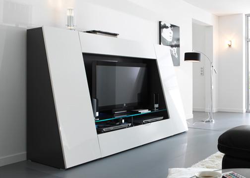 meuble haut tv mobilier. Black Bedroom Furniture Sets. Home Design Ideas