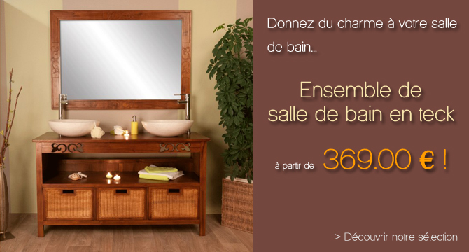 meuble salle de bain bois pas cher. Black Bedroom Furniture Sets. Home Design Ideas