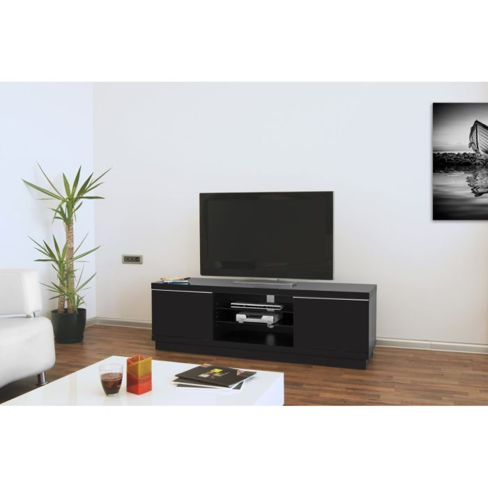 meuble tv bas noir pas cher. Black Bedroom Furniture Sets. Home Design Ideas