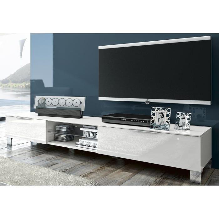 meuble tv haut blanc laque. Black Bedroom Furniture Sets. Home Design Ideas