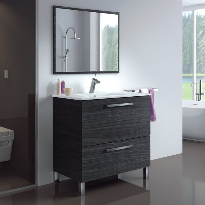 mod le meuble vasque miroir salle de bain. Black Bedroom Furniture Sets. Home Design Ideas