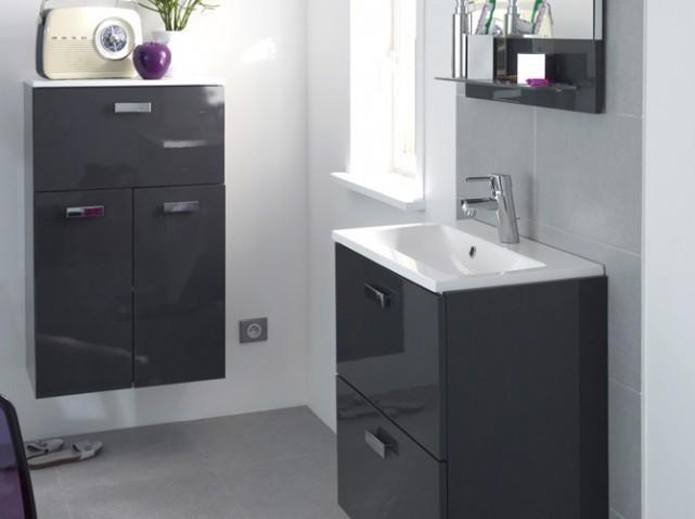 Meuble cuisine faible profondeur idee de douche a l - Meuble vasque petite profondeur ...