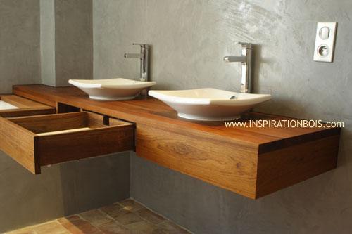 Mod le meuble vasque suspendu for Support vasque salle de bain