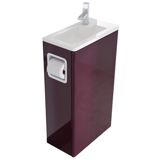 Meuble vasque wc castorama for Meuble angle wc