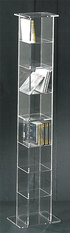 colonne rangement cd en plexi. Black Bedroom Furniture Sets. Home Design Ideas