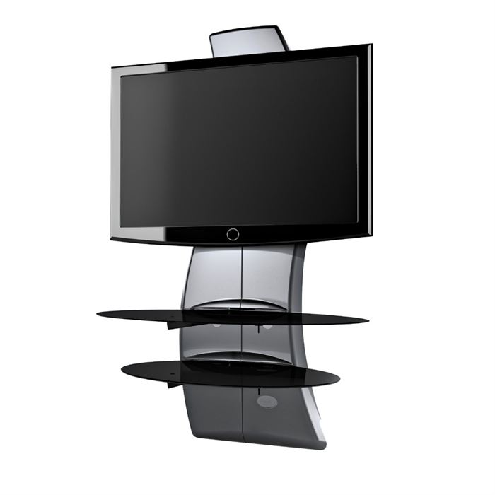 support mural tv d 39 angle avec tablette. Black Bedroom Furniture Sets. Home Design Ideas