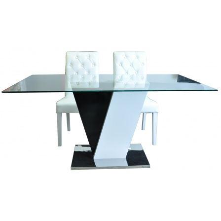Table a manger noir et blanc for Table a manger blanc et noir