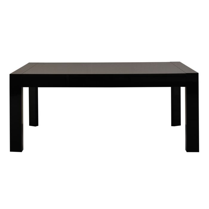 Table a manger noir laque maison design for Table a manger noir