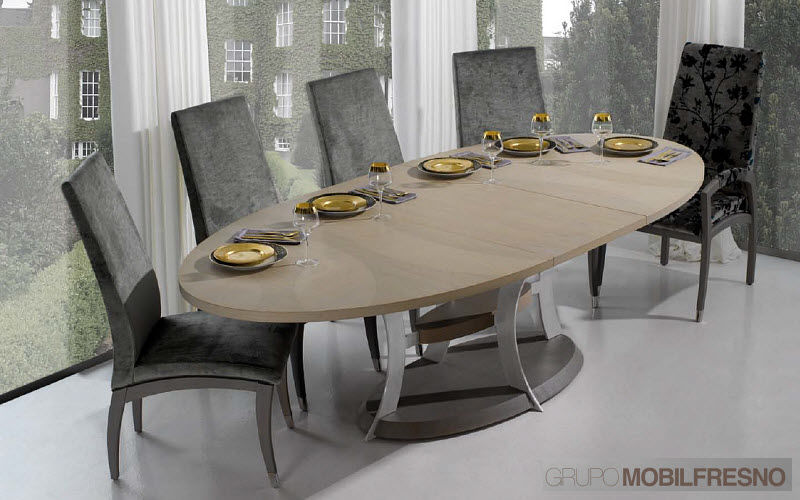 Table a manger ovale extensible - Table ovale extensible design ...