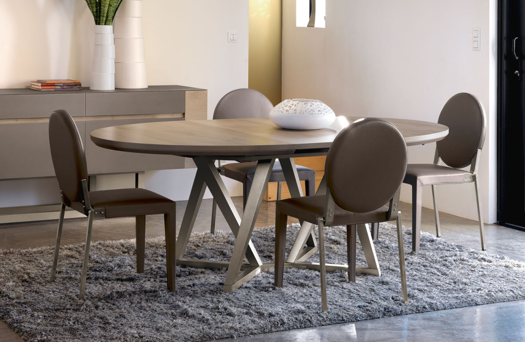 Visuel table a manger ovale extensible - Table ovale extensible design ...