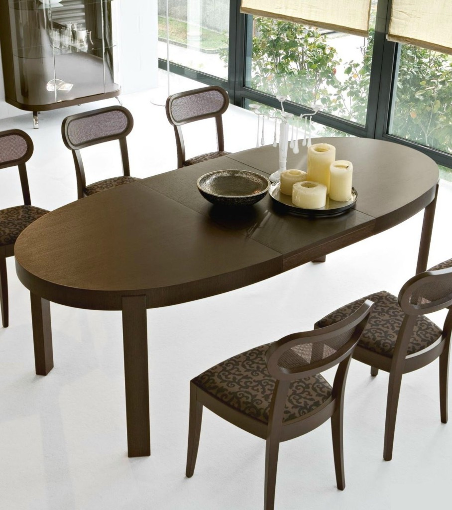 table a manger ovale extensible. Black Bedroom Furniture Sets. Home Design Ideas