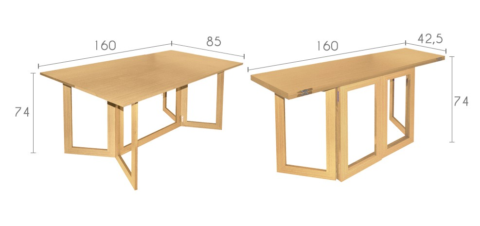 Table a manger pliable Table salle a manger pliable