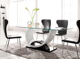 visuel table a manger verre design - Table De Salle A Manger En Verre Design