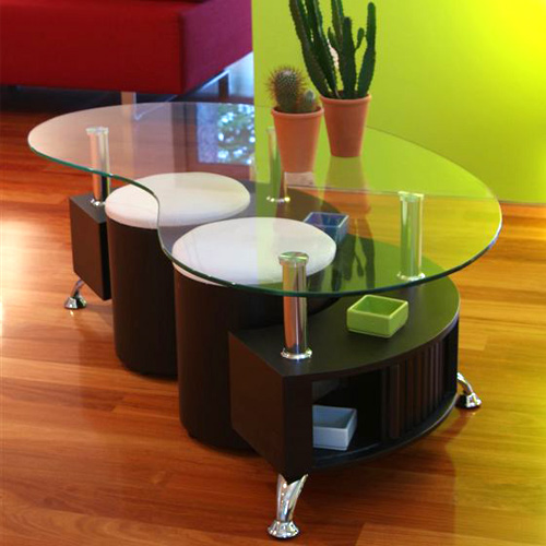 table basse avec pouf. Black Bedroom Furniture Sets. Home Design Ideas