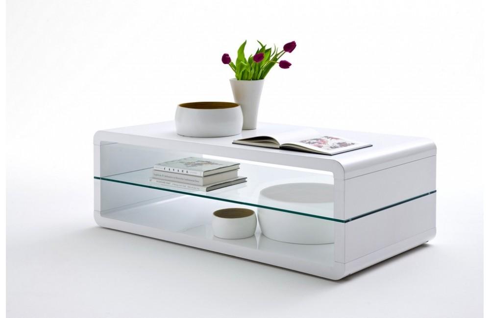 meuble tv et table basse blanc laque modle table basse blanc laque - Table De Salon Blanc Laque