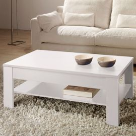 Exemple table basse blanche pas cher - Table induction blanche pas cher ...
