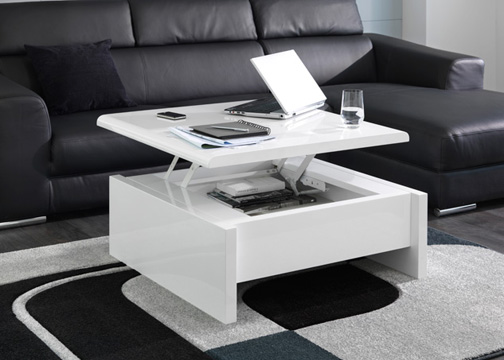 Table relevable design italien for Table basse pour petit salon