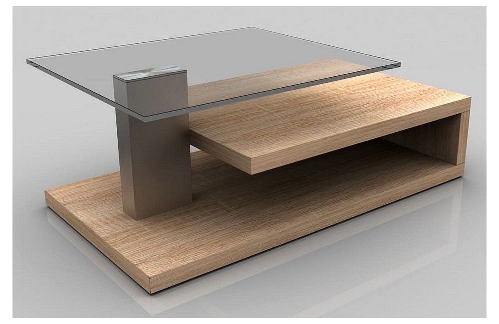 Table basse design bois - Table basse bois verre design ...