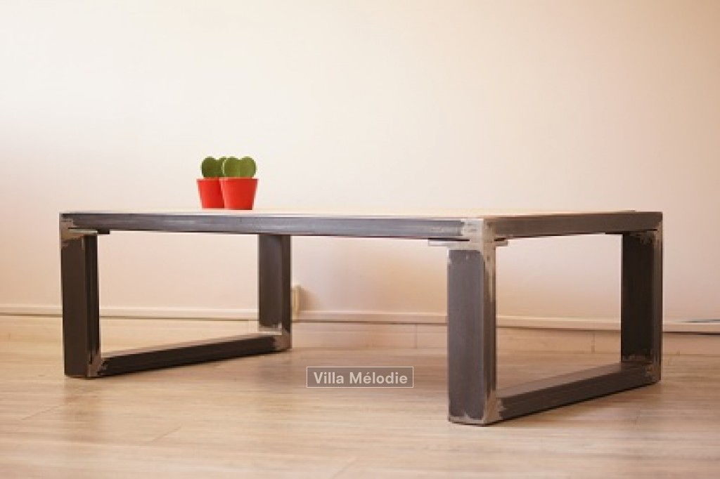 Trouver table basse fer et bois pictures to pin on pinterest - Table basse en fer et bois ...