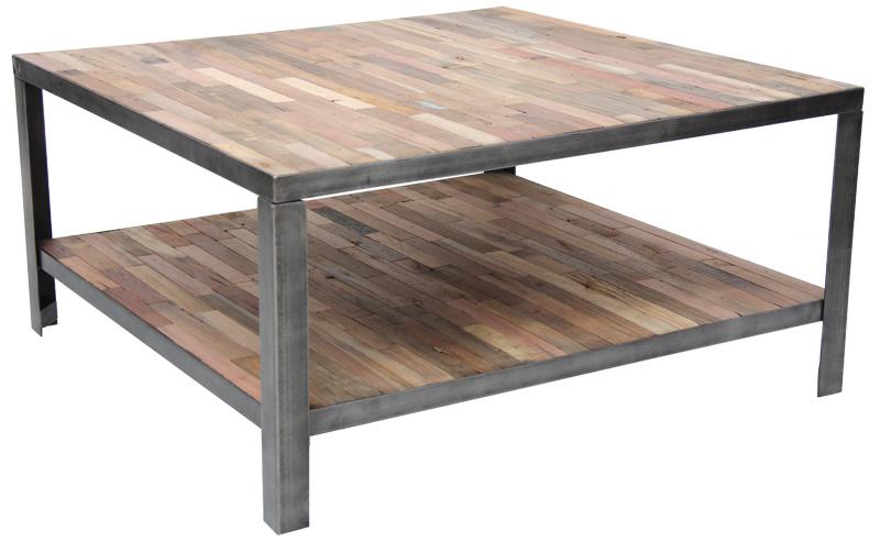 table basse salon bois et fer. Black Bedroom Furniture Sets. Home Design Ideas