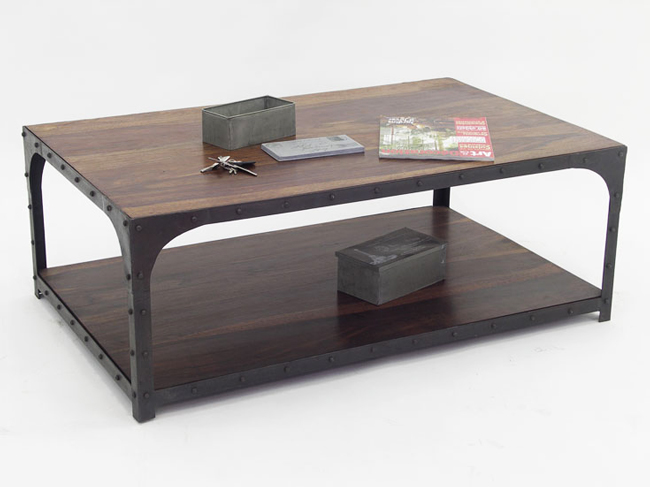 table basse loft. Black Bedroom Furniture Sets. Home Design Ideas