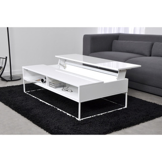 Pin table basse plateau relevable d cor noyer elegante for Ikea table basse relevable