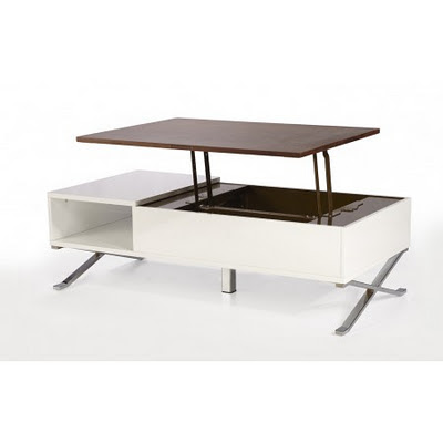 Table modulable ikea for Table basse scandinave plateau relevable