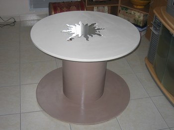 Table basse touret - Faire une table avec un touret de cable ...
