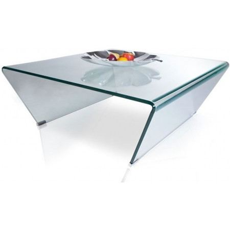 Table basse verre trempe for Table cuisine verre trempe