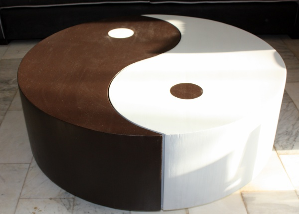 Table basse ying yang for Meuble ying yang