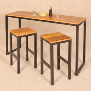 Visuel table de bar haute conforama for Table haute snack cuisine