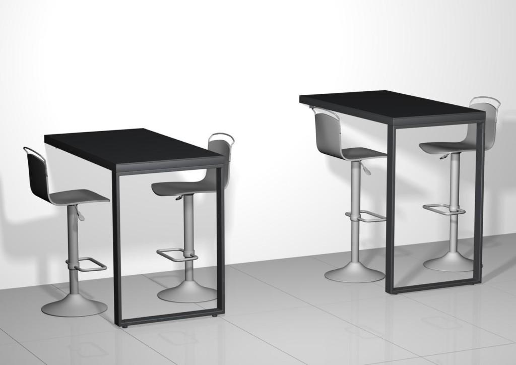 table de bar murale. Black Bedroom Furniture Sets. Home Design Ideas