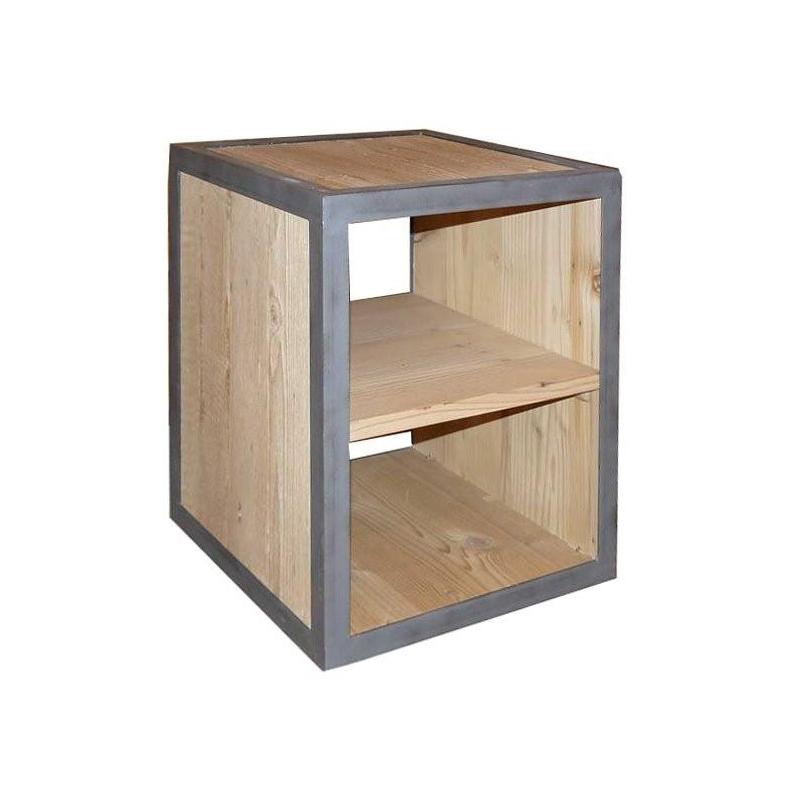 simple table de nuit cube bois with table de chevet cube. Black Bedroom Furniture Sets. Home Design Ideas