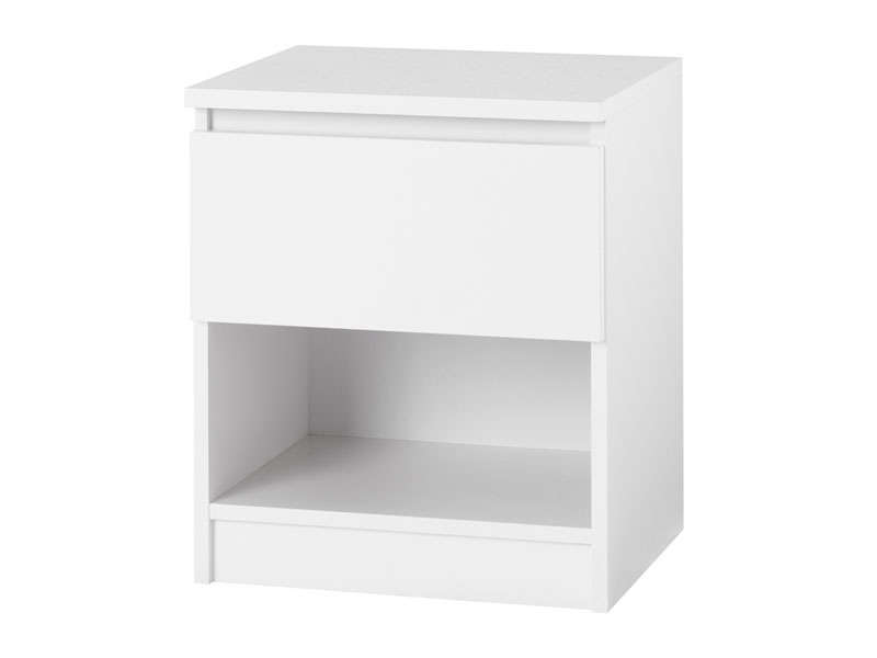 Mod le table de chevet pas cher blanche for Modele table de nuit