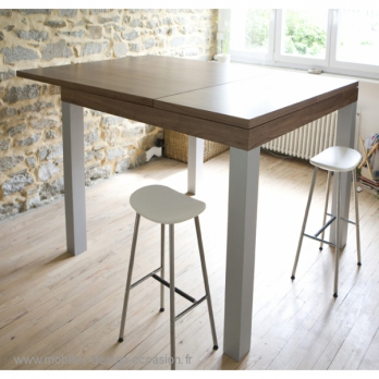 Table haute de bar occasion - Table haute de cuisine et tabouret ...