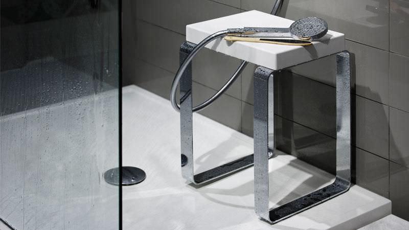 tabouret de douche inox. Black Bedroom Furniture Sets. Home Design Ideas