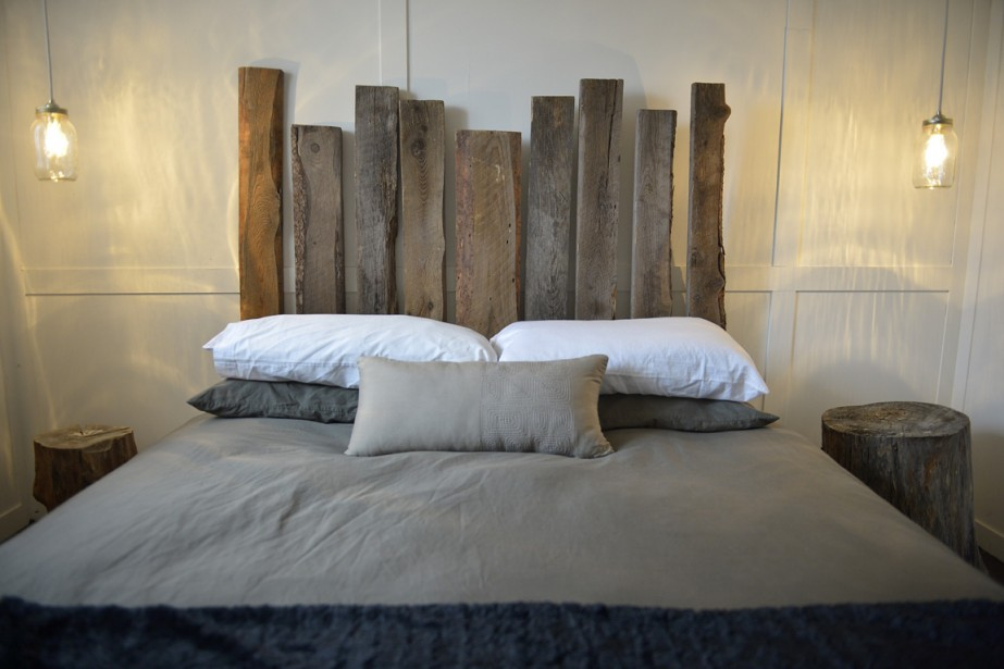 tete de lit en bois flotte. Black Bedroom Furniture Sets. Home Design Ideas