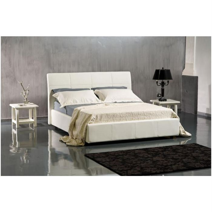 tete de lit cuir blanc. Black Bedroom Furniture Sets. Home Design Ideas