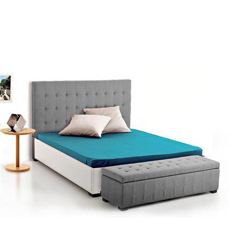 tete de lit gris clair. Black Bedroom Furniture Sets. Home Design Ideas